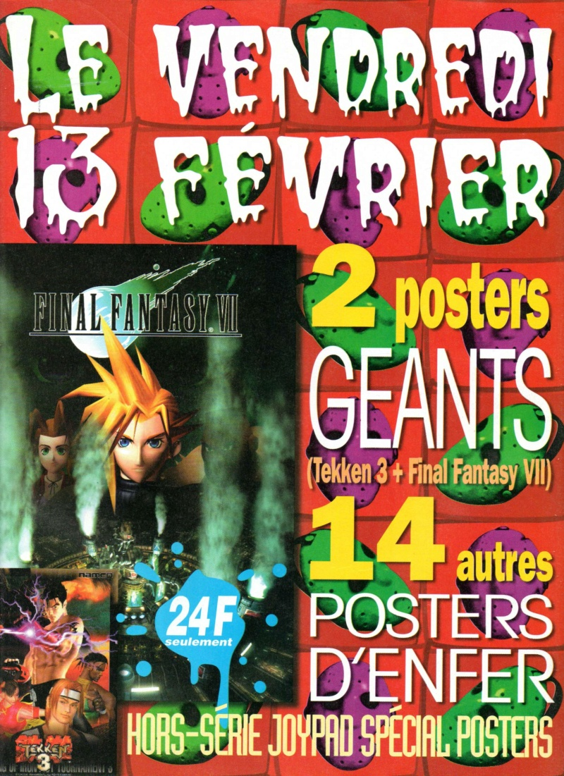 ACH poster retro FF7 / Hors spécial Joypad spécial poster Joypad12