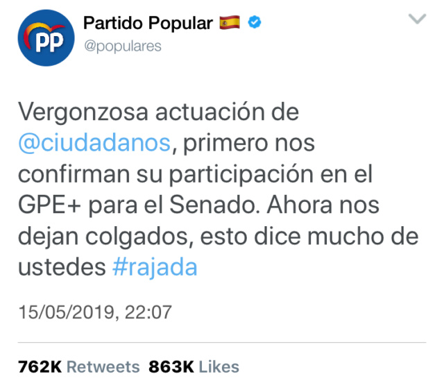 @populares | Twitter Oficial del PP y sus principales políticos Bda22310