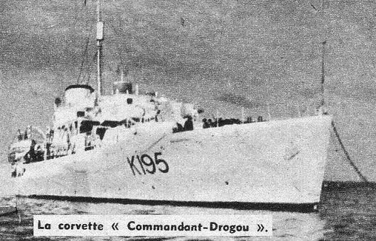 corvette commandant Drogou 1944 1/700 Corvet10