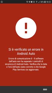 Soluzione problema avvio Android Auto  Errore10