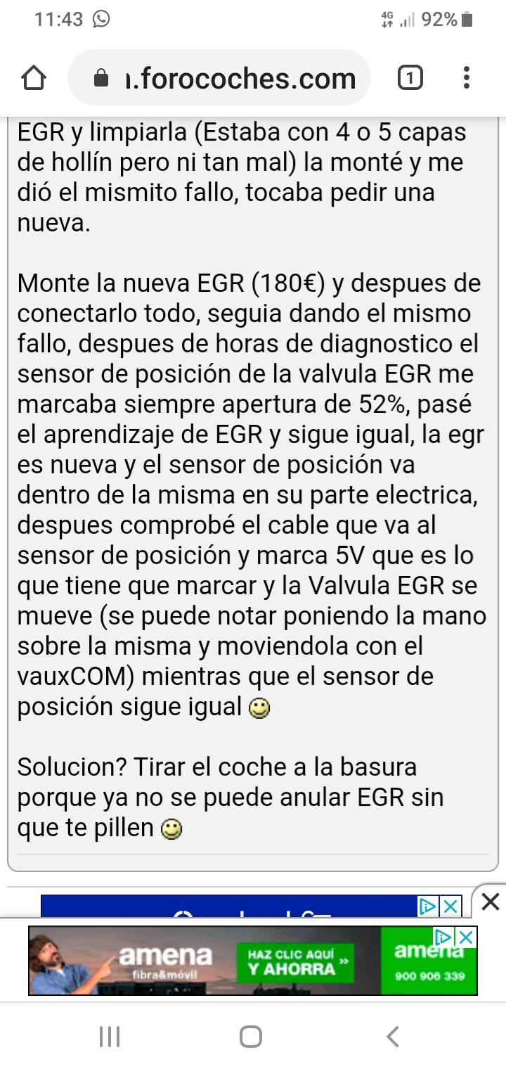 Valvula EGR nueva y sigue la luz de averia - Página 5 Screen48