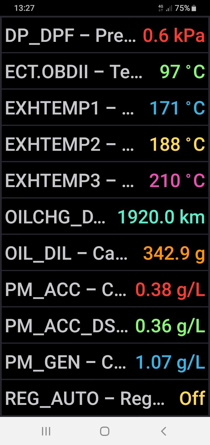 Registro de regeneraciones de mi filtro de partículas - Motor 1.6 cdti 110 CV (B16DTL) - Página 2 Screen49