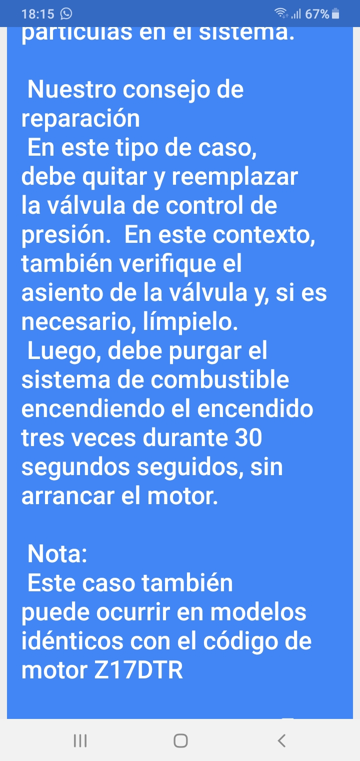Error DTC MIL: P0093 informacion de Hella. Screen65