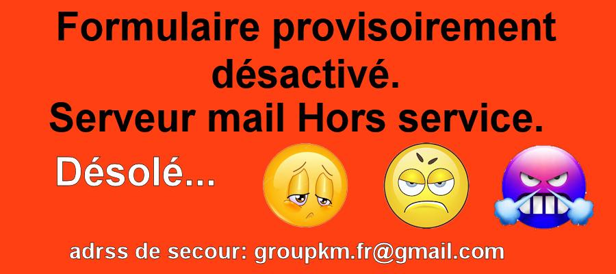 Formulaire du groupe Mail_h10