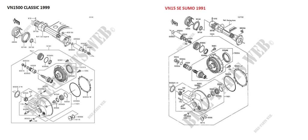 PETITES ANNONCES - recherche cadre ou partie cycle VN1500 Arbre-10