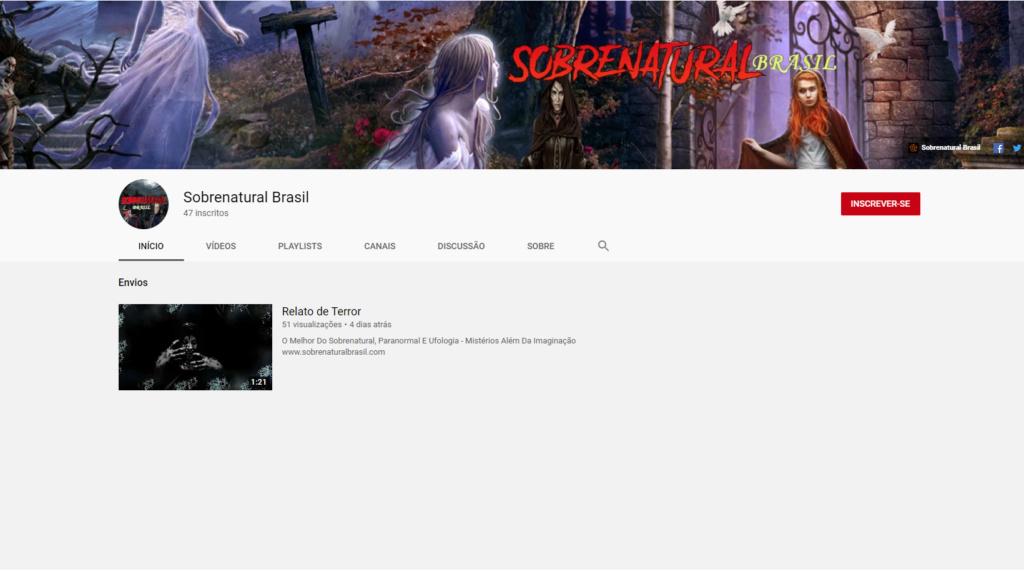 Canal Sobrenatural Brasil - Página no Facebook e Twitter Canal10