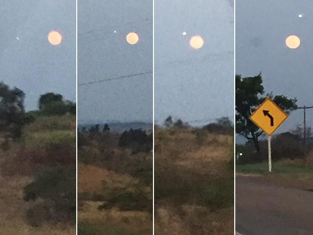 Ovni ao Lado da Super Lua Cheia em DF Sobren10