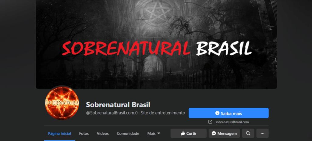 Canal Sobrenatural Brasil - Página no Facebook e Twitter Sobren12