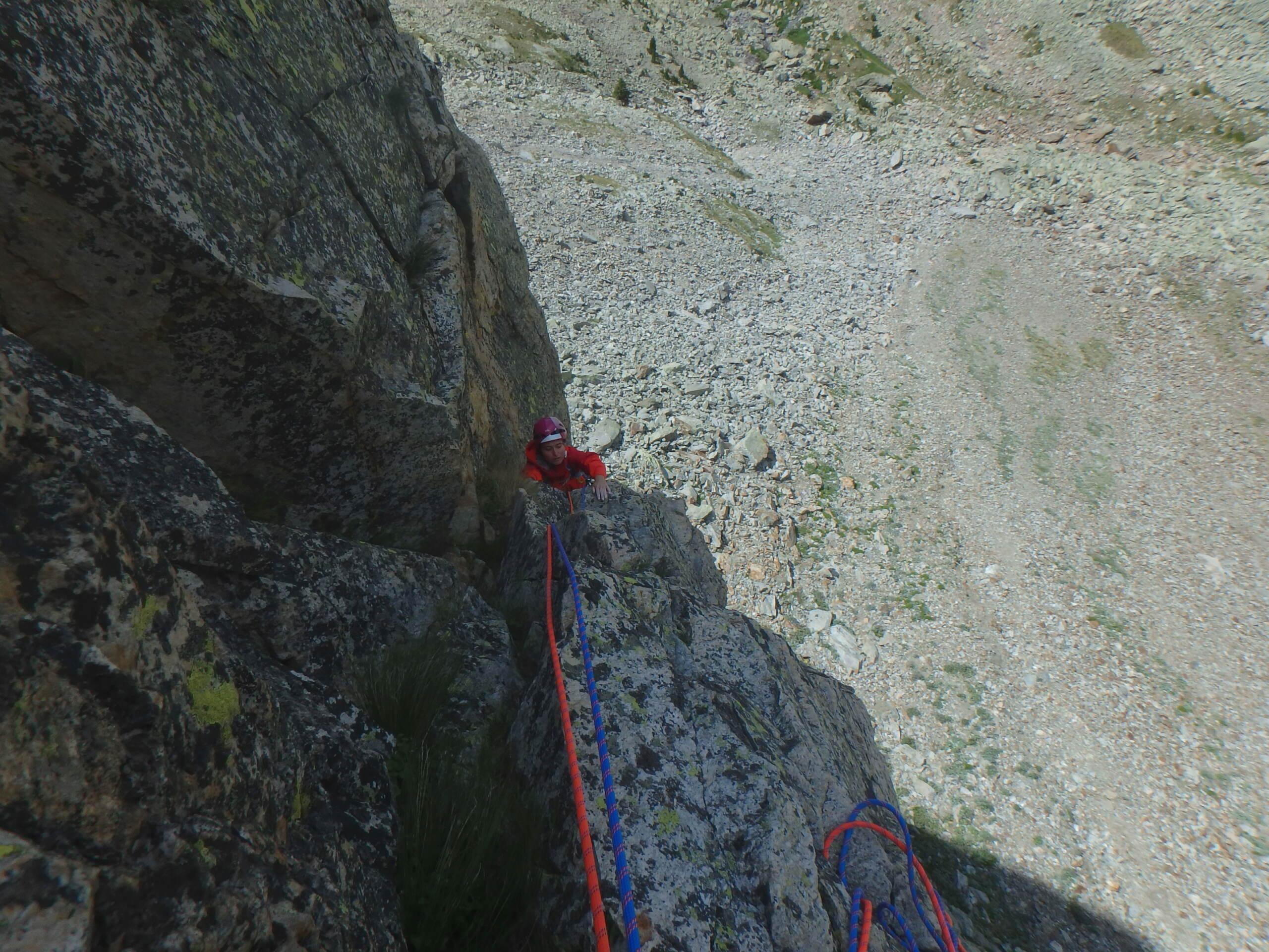 Val Gesso chapitre 1 : Eperon W au Cayre des Erps P8180413