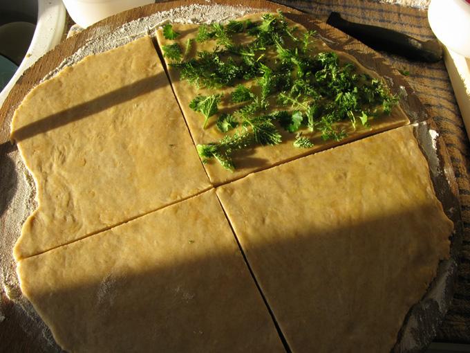 gâteaux apéritifs aux pousses de printemps Recett10
