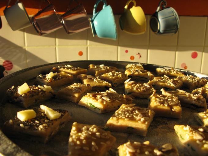 gâteaux apéritifs aux pousses de printemps Recett15