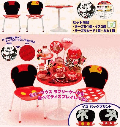 Disney Mickey and Minnie Café Table and Chairs Mickey11