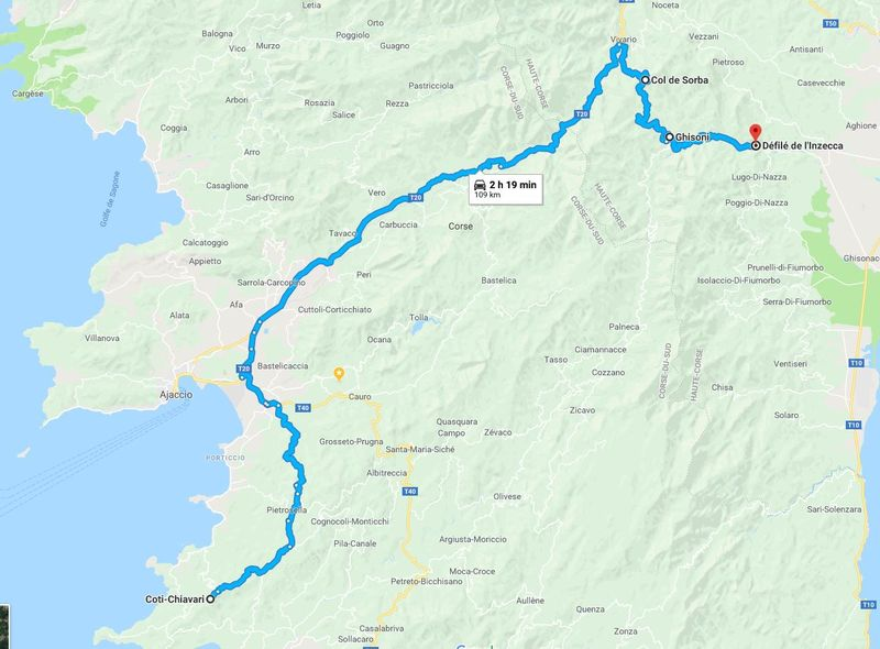 Photos Corse mai 2018 Route210