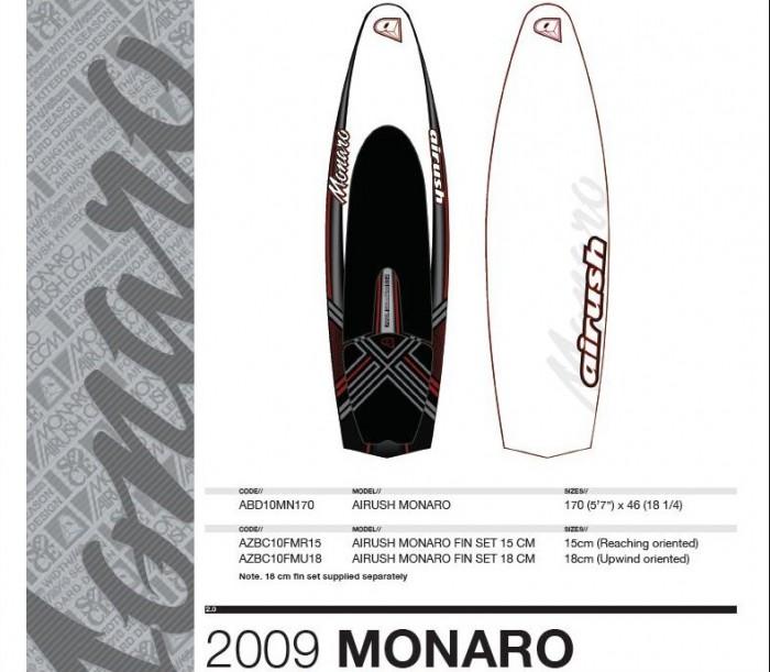 apercu et technologie des boards Airush Monaro10
