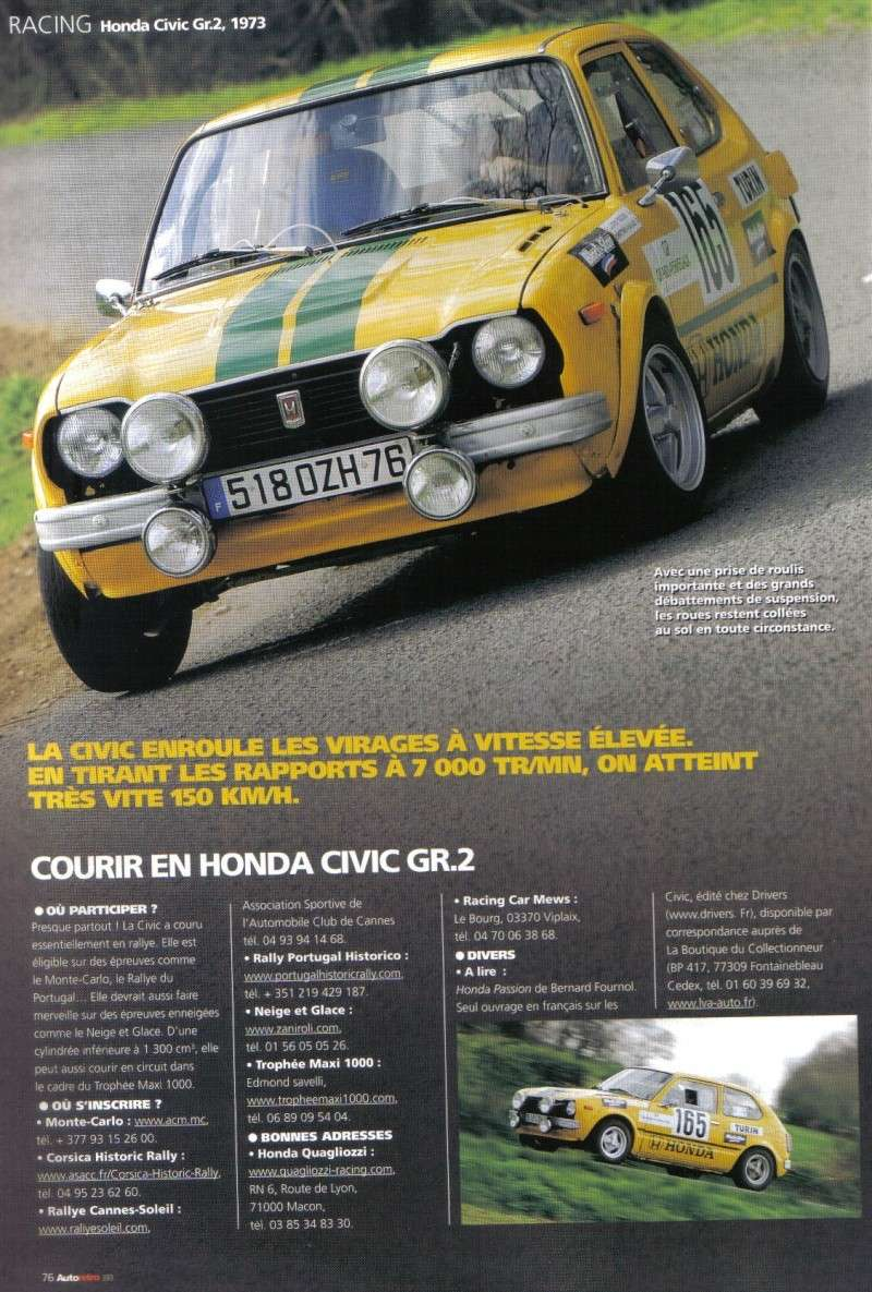 Honda CIVIC SB2 Groupe 2 [historic rally] Autore13