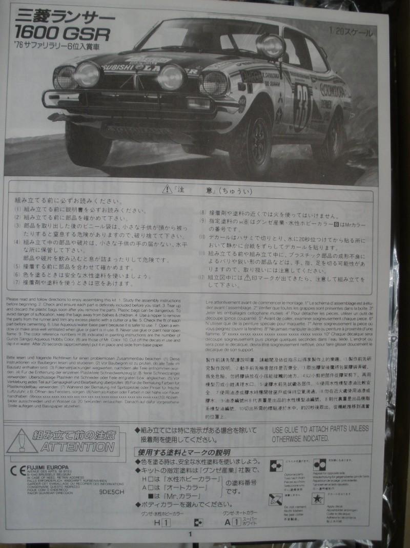 MITSUBISHI LANCER 1600 GSR  SAFARI RALLY 1976 1/20eme Mes_i378