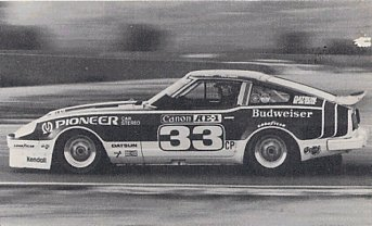 BOB SHARP RACING DATSUN, Paul Newman..Combinaison gagnante Sharpz10