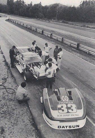 BOB SHARP RACING DATSUN, Paul Newman..Combinaison gagnante V8turb10