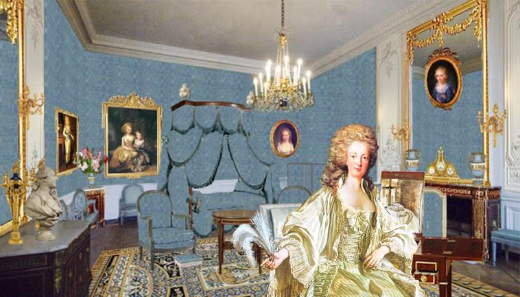 Chambre à coucher du Petit appartement de Marie-Antoinette, au rez-de-chaussée du château de Versailles Chambr10