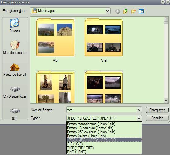Faire une capture d'écran. Enreg_11