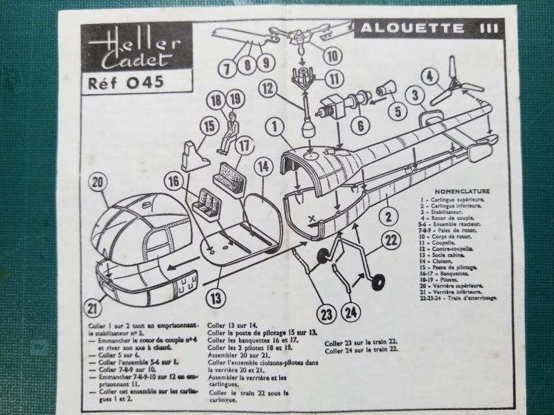 SUD AVIATION SA 319 Alouette III 1/100ème Réf CADET 045 Notice Img_2053