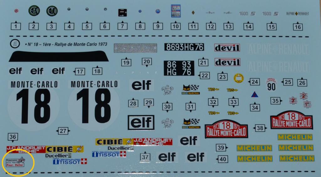 [HELLER] ALPINE A110 1600 S  - 1/24ème - Réf:80745 Sans_t10