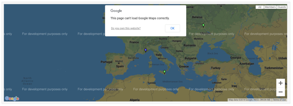 Removing the possibility to display the Google Map on Forumotion forums 14-05-11