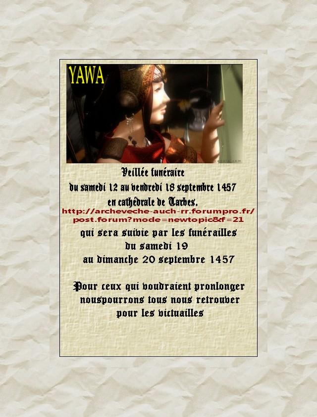 Veillée funéraire : YAWA Annonc10