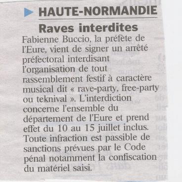 """""""Arrêté Anti-Rave"""" dans l'Eure... Rave1010"""