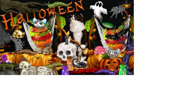 Défilé d'Halloween ... les pieds de sorcière !!!  Cage_p10