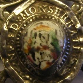 Curiosa medalla de Montserrat - MONTSERRATE. Siglo XVIII 36x36_10
