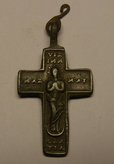 Crucifijo del siglo XVIII, con la Inmaculada Concepción. Creu3_11