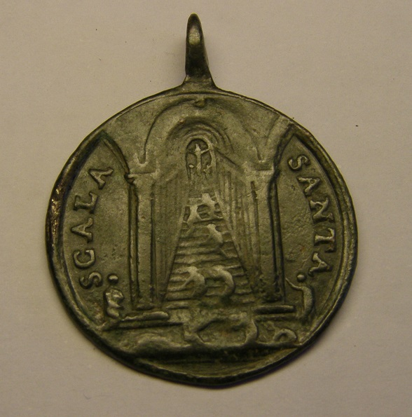 Medalla Scala Santa, 4 basílicas romanas, siglo XVIII. Med10210