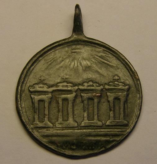 Medalla Scala Santa, 4 basílicas romanas, siglo XVIII. Med10211
