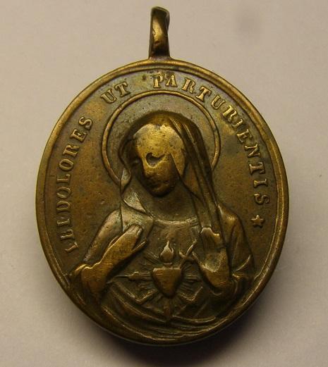 Medalla protectora para los dolores del parto, ¿principios siglo XIX? Med11_12