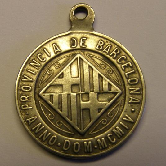 Medalla de San José, Barcelona, recaudación de tributos, año 1904. Med12_22