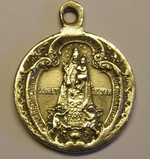 Curiosa medalla de Sant Pere del Bosch y Sant Jordi. Principios siglo XX. Med12_25