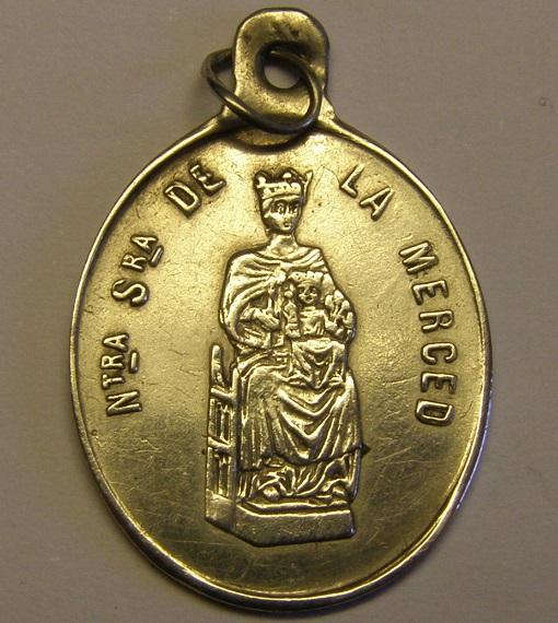 Medalla de Nª Sª de la Merced, Orden Mercedaria, Barcelona, final siglo XIX. Med12_26