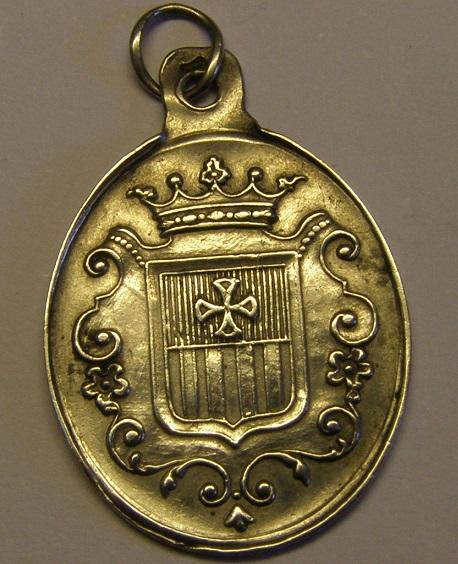 Medalla de Nª Sª de la Merced, Orden Mercedaria, Barcelona, final siglo XIX. Med12_27