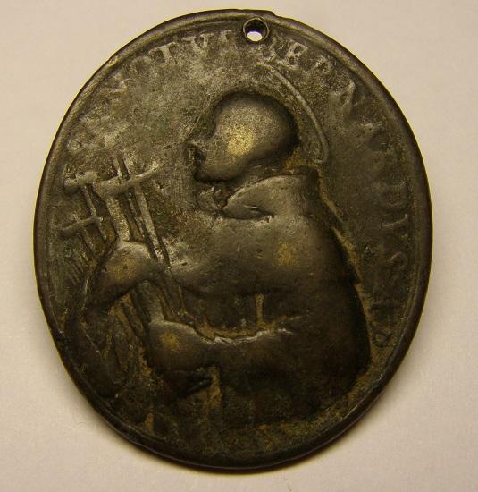 Medalla de San Bernardo y San Benito, siglo XVIII. Med15_12