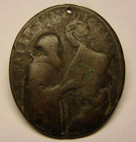 Medalla de San Bernardo y San Benito, siglo XVIII. Med15_13
