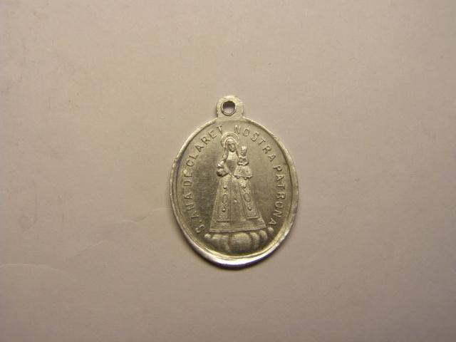 Medalla de Santa Ana de Claret y  Santa Maria de Claret, pueblo de Claret, Bages. Med25_11