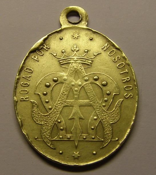 Otra medalla de Nª Sª de Butsènit, Lleida. Finales siglo XIX. (AM) Med3_110