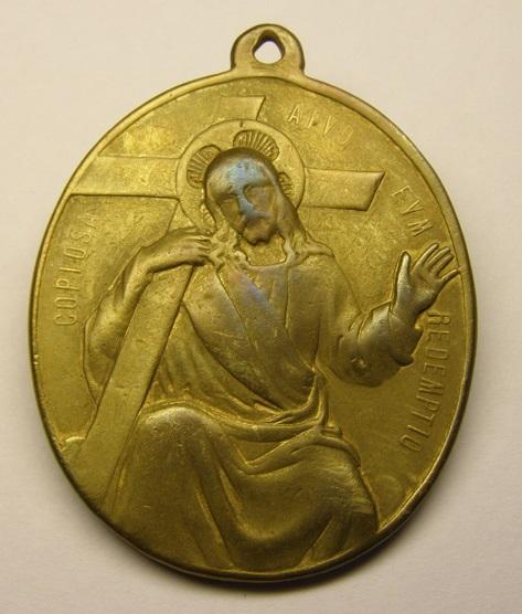 S. Alfonso Maria de Ligorio / Cristo Redentor - s. XIX Med8_113