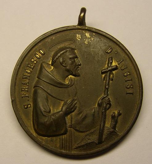 Medalla de San Francisco de Asís, VII centenario, año 1882. Med8_114
