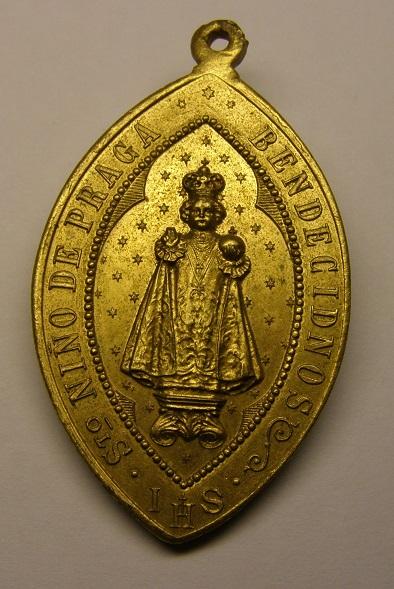 Medalla del Niño Jesús de Praga, Barcelona, principios siglo XX. Med8_210