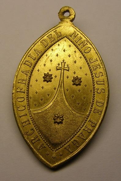 Medalla del Niño Jesús de Praga, Barcelona, principios siglo XX. Med8_211