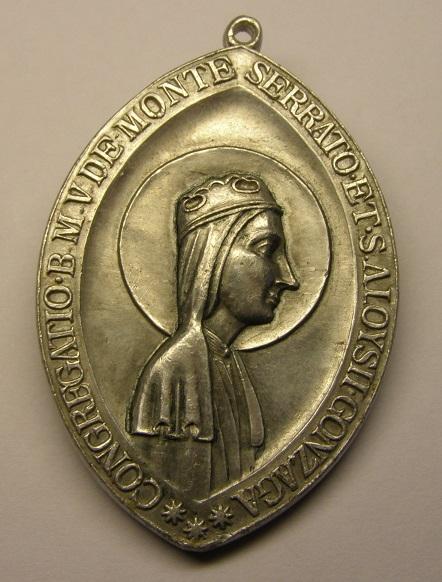 Medalla de la congregación de la V. de Montserrat y S. Luis de Gonzaga. Med8_213
