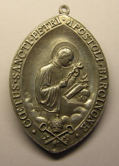 Medalla de la congregación de la V. de Montserrat y S. Luis de Gonzaga. Med8_214