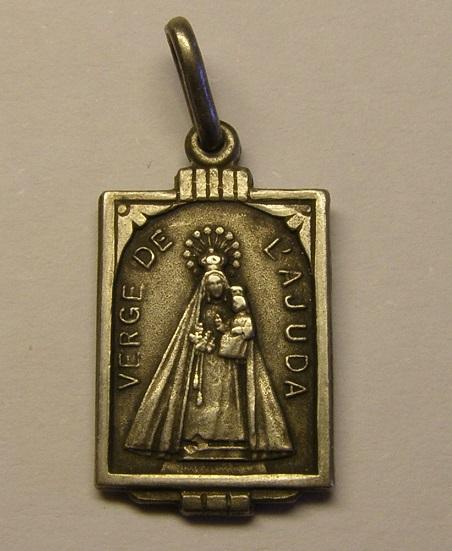 Medalla de la Verge de l'Ajuda, Balenyà. Siglo XX. Med_1814